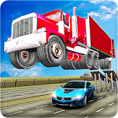 Ramp Truck Trailer Open Doors Car Racing Stunts