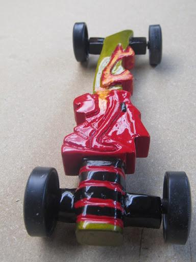 Lego ninjago sword of fire car derby talk for Formula 1 pinewood derby car template