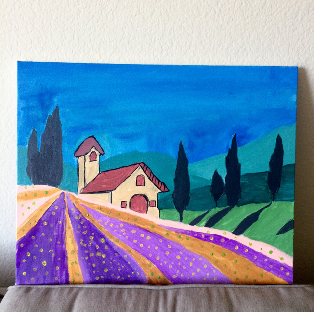 #100DaysOfDoodles | Day 31 | Tuscan Acrylic Painting  | The 100 Day Project 2017