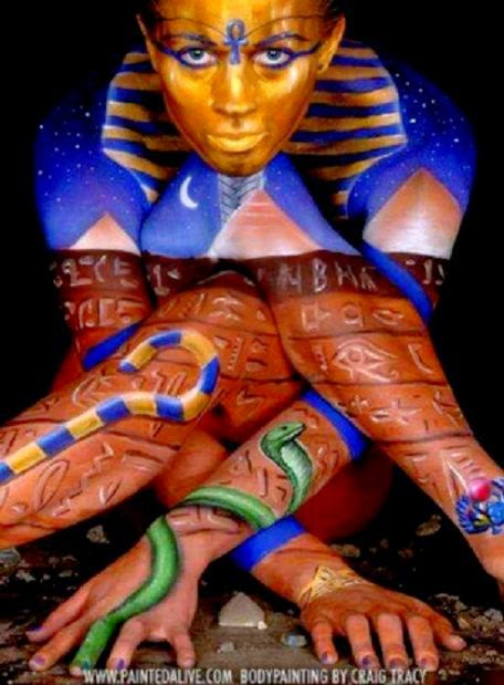 Egyptian graffiti body art  body art and mods  Pinterest