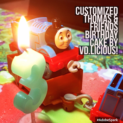 CUSTOMIZED THOMAS & FRIENDS CAKE BY VD.LICIOUS!