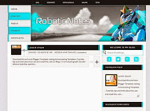 Anime Templates for Blogger: Robotic Notes
