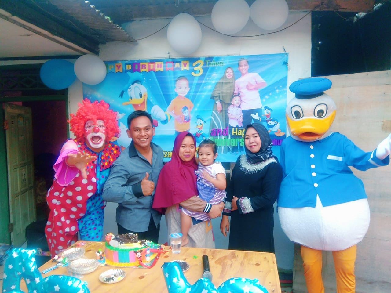 badut buat gempar acara ulang tahun di kosambi Tangerang