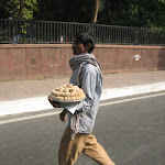 Vendeur mobile de snacks, Delhi