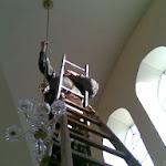 Csillár tartó láncának a javítása_2010