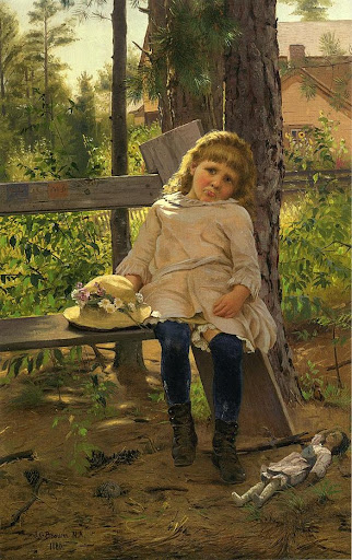 John George Brown - Golden Locks