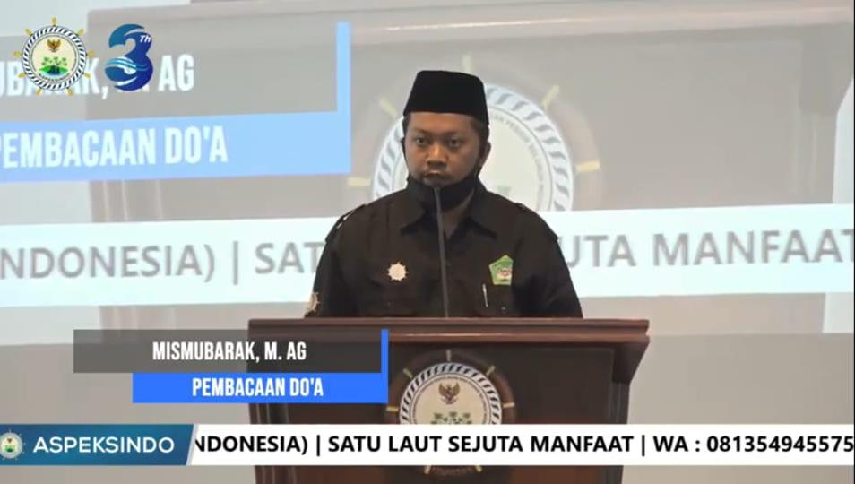 Mantan Presiden BEM UIN, Memandu  Doa Corona di Depan  Menteri