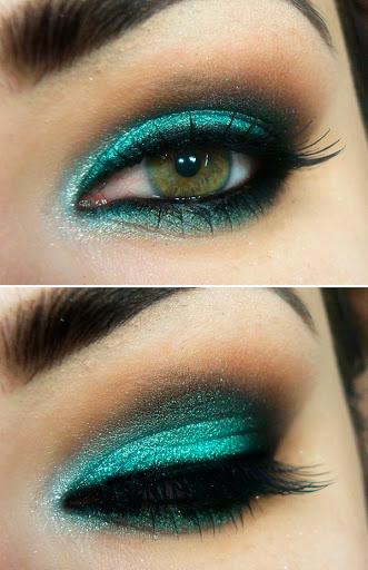 maquiagem-festa-azul-turquesa-abrir-janela