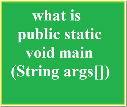 public-static-void-main
