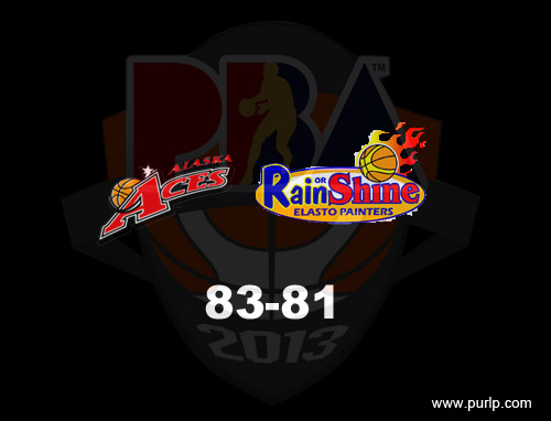 PBA Imports 2013 Alaska vs. Rain or Shine Game Results 02-09-2013   PBA Imports 2013   Alaska vs. Rain or Shine
