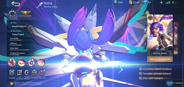 Skin Terbaik Hero Nana Mobile Legends: Bang Bang