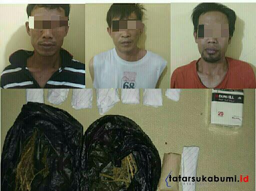 3 Pria Miliki Ganja Dibekuk Satres Narkoba Polres Sukabumi