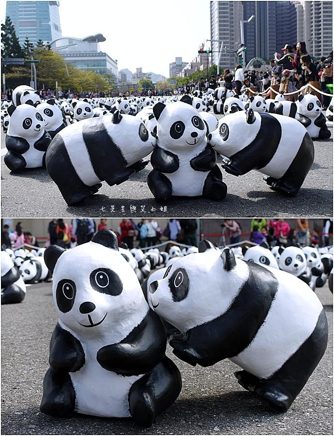 6 紙貓熊 1600貓熊之旅-台北 0224 台北市政府廣場展覽