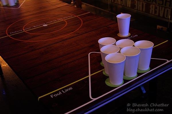 Beer Pong game at Toss Sports Lounge Koregaon Park