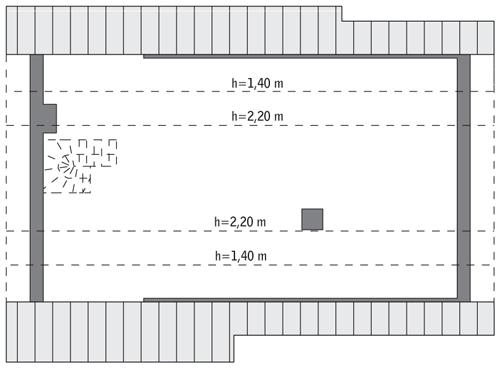 Idealny - C318 - Rzut poddasza do indywidualnej adaptacji (68,6 m2 powierzchni użytkowej)