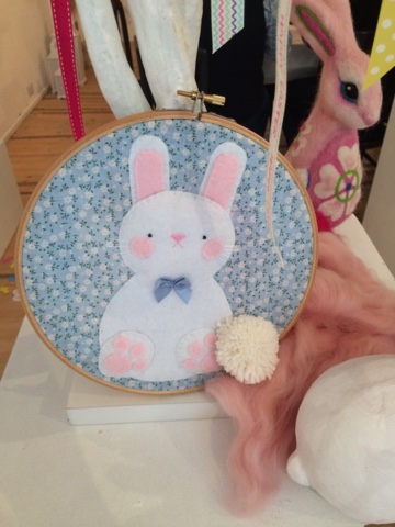 Getting Ready for Easter - Spring Craft Special! create your own appliqué bunny hoop