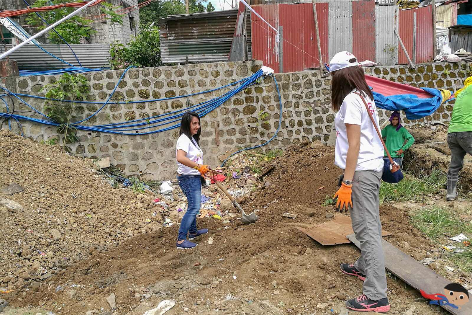 Volunteering activity in Gawad Kalinga Munting Pamayanan