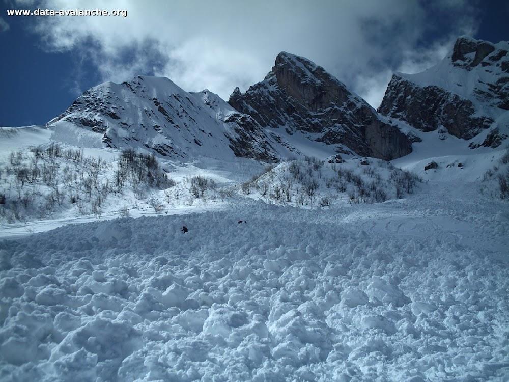 Avalanche Aravis, secteur Col des Aravis, Combe à Marion - Photo 1 - © PGHM Annecy