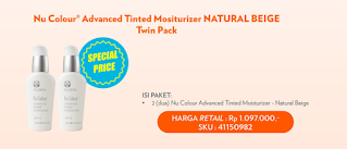 Promo Nu Skin Nu Colour Advanced Tinted Moisturizer Natural Beige Twin Pack Harga Spesial
