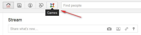 Ada fitur game online gratis di Google Plus !