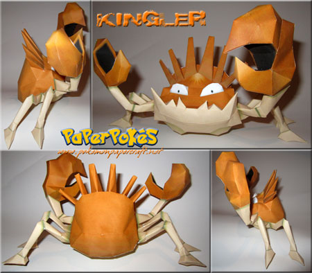 Pokemon Kingler Papercraft