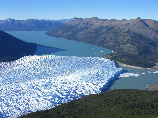mountain side view of perito moreno glacier argentina patagonia