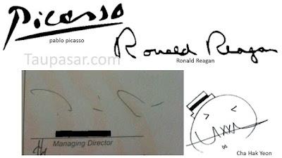 contoh tanda tangan simple