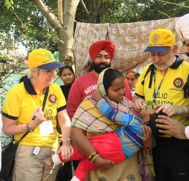 P P Vaccinating in India
