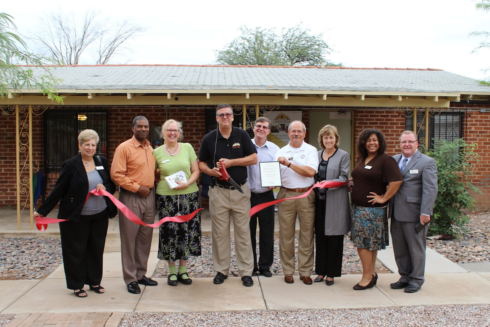 Old Pueblo Community Services - Members of the community celebrate the opening of the new Old Pueblo Substance Abuse Residential Rehabilitative Treatment Program (SARRTP).  This new recovery community will provide a community-based, residential environment with supportive services that meets the needs of the Veterans receiving substance use treatment at the VA hospital.