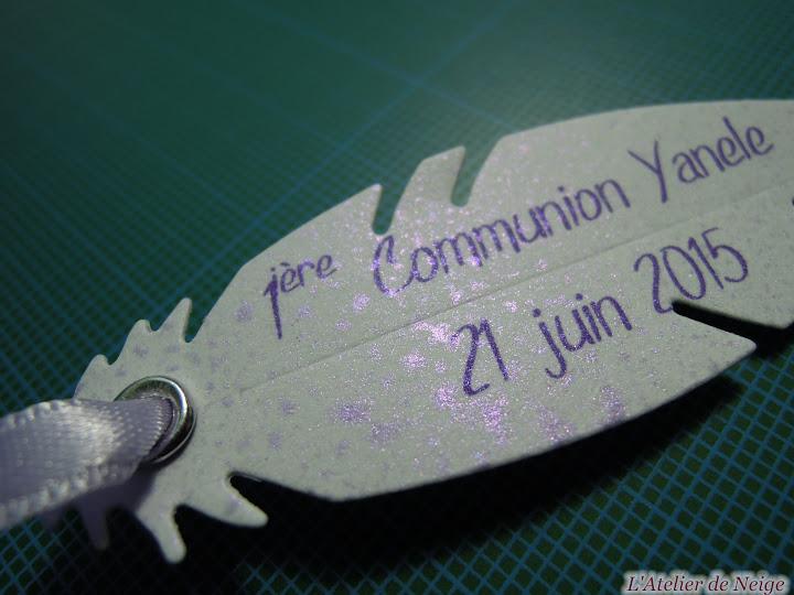 156 - Etiquettes à dragées Communion  Yanele 21 juin 2015