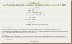 James Knotts, 1835 Tax List