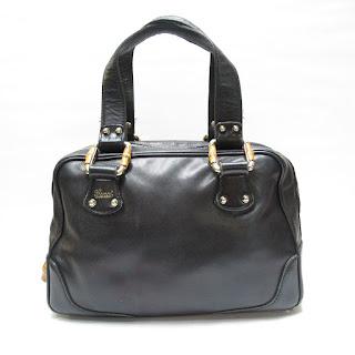 Gucci Bamboo Detail Handbag
