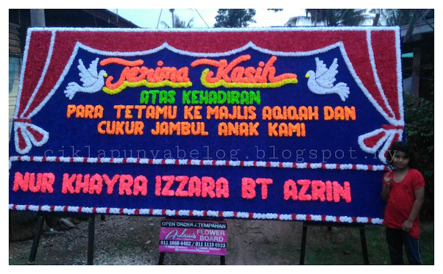 Majlis Akikah dan Cukur Jambul Baby Zara.