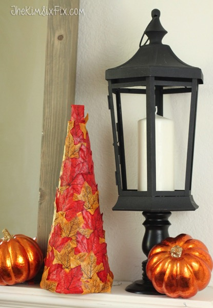 A black lantern is the perfect decoration for halloween or fall
