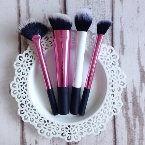 Real Techniques Fan Brush, Sculpting Brush, Dual Fibre Cheek, Contour