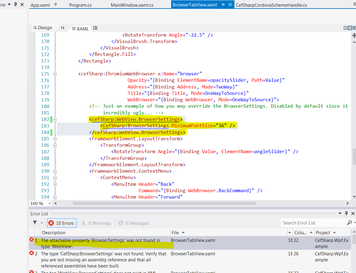 Can'not change browser settings in CefSharp >> getting the