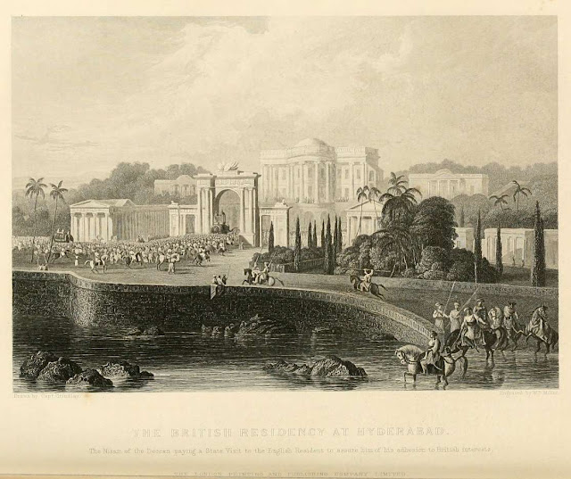 """The British Residency at Hyderabad,"" from vol. 3 of 'The Indian empire' by Robert Montgomery Martin, c.1860"