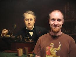 Scott Nelson with Thomas Edison.