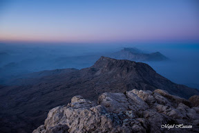 A cold foggy evening at Gorakh Hills.