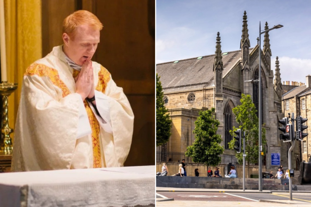 Man charged after priest is attacked while praying alone in Catholic Cathedral