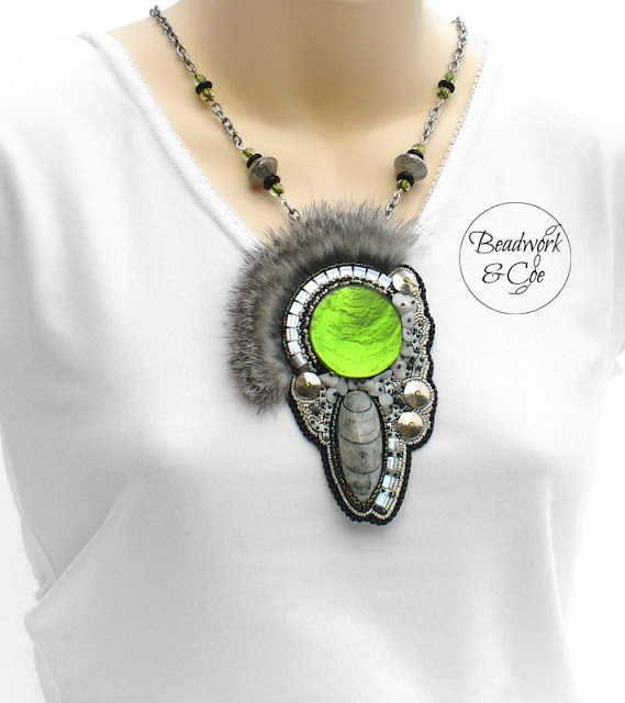 Fossil Pendant by Beadwork and Coe