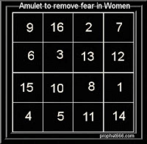 Amulet To Remove Fear In Women
