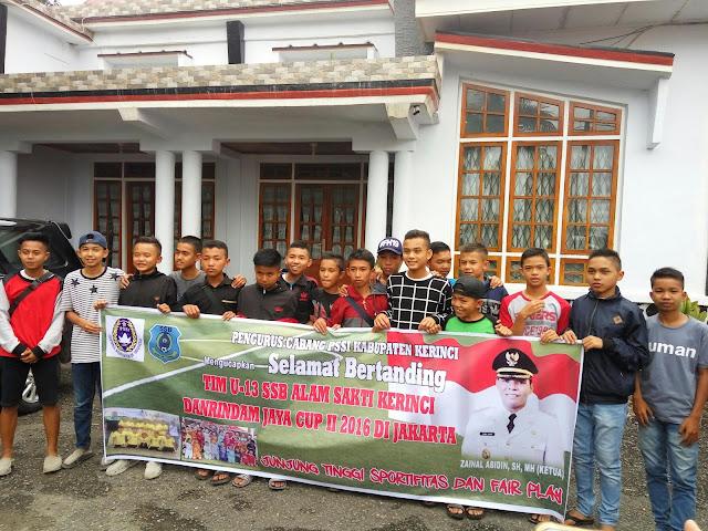 Tim U-13 SSB Alam Sakti Kerinci Bertolak Ke Jakarta, Ikuti Kejurnas U-13 Danrindamjaya Cup II