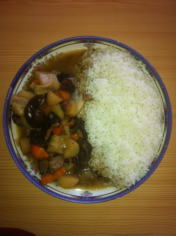 Delicious rice and vegetables