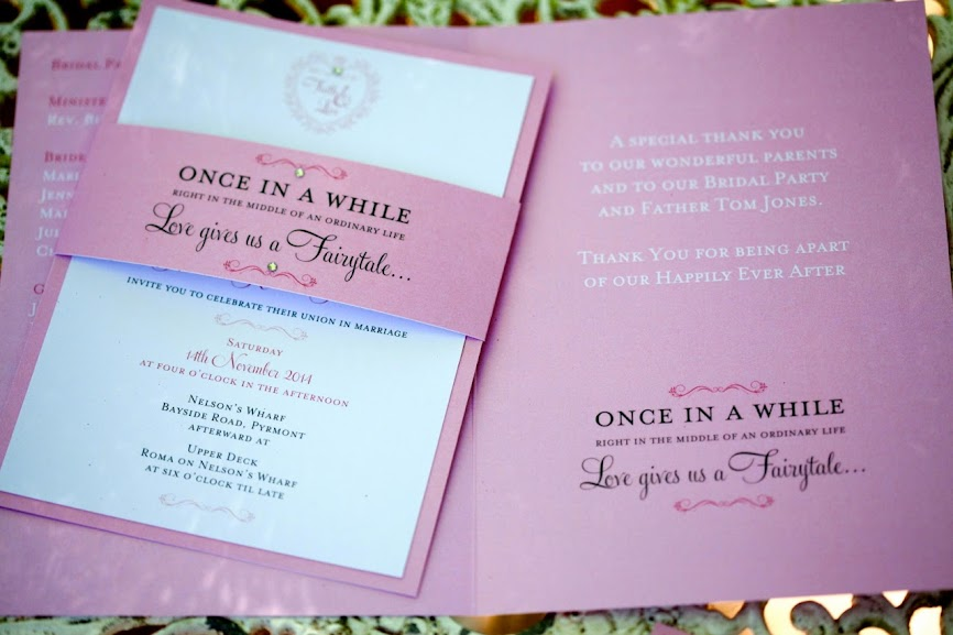 DreamDay Invitations Wedding Stationery Order of Service