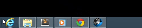 Windows 8 taskbar: no Start button