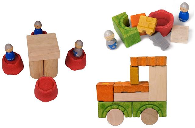 Đồ chơi Khối gỗ xếp hình Lâu đài kỵ sĩ Plan Toys chất liệu bằng gỗ