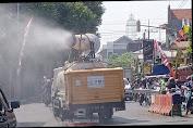 Catat! Tiga Hari Jalur Utama Kota Mojokerto Disemprot Disinfektan