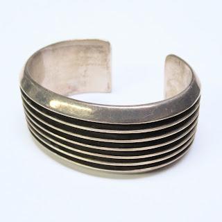 Sterling Silver Modernist Cuff