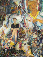 'What have You done with all my birdes?', oil on canvas, 45,3x 59 inches, 1995